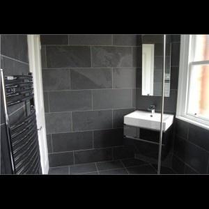 Brazilian Black Natural Riven Slate Flooring/Wall Tile   600x400x10 (+/ 2mm
