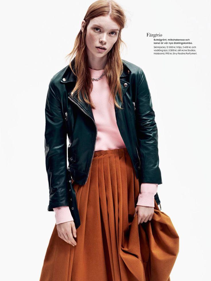 #JuliaHafstrom by #HonerAkrawi for #ElleSweden January 2015