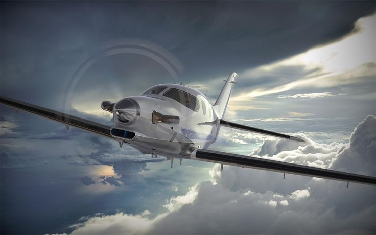 The new Epic Aircraft E1000 Turboprop, rendered in KeyShot by Jamie Klopp, Chief Designer at Epic Aircraft.