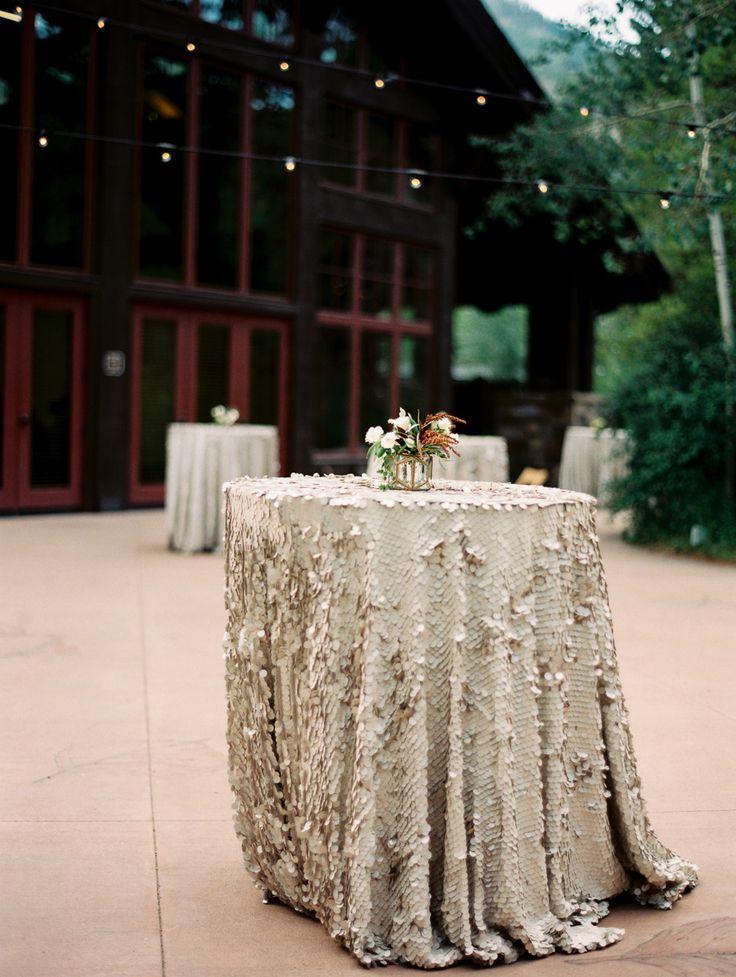 Elegant Destination Vail Wedding Linen Rentals Cream And Linens