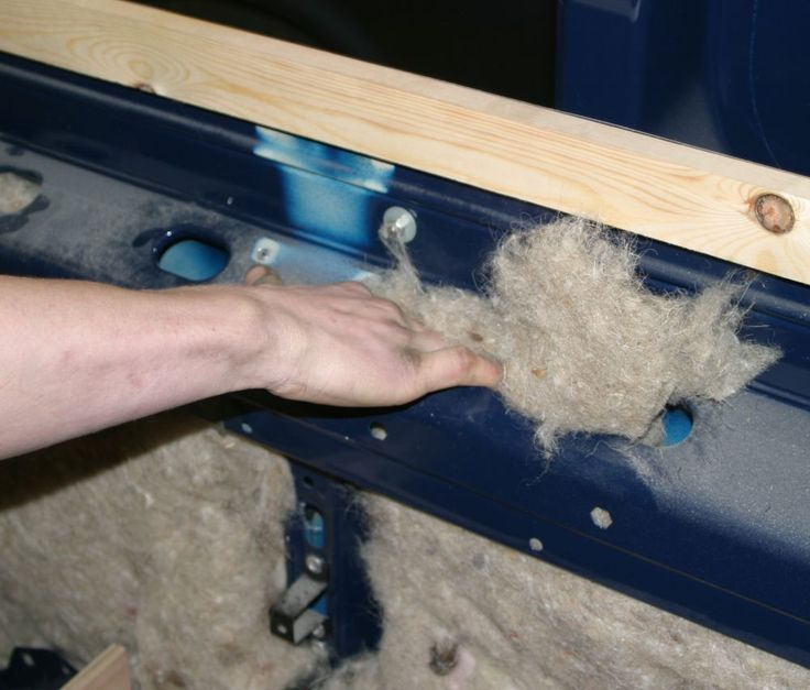 Thermafleece Natural wool and recycled fibre insulation is easy to place in all those nooks and crannies.
