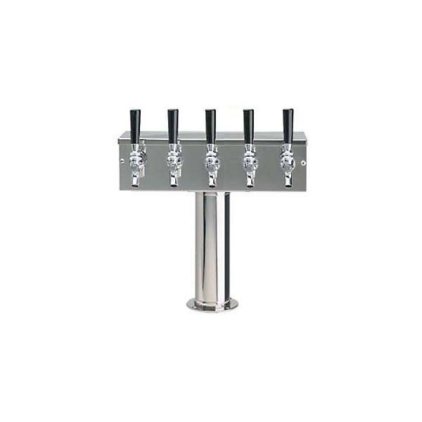 Glastender BT 4 PB LD 4 Faucet Brass Air Cooled Tee Tower