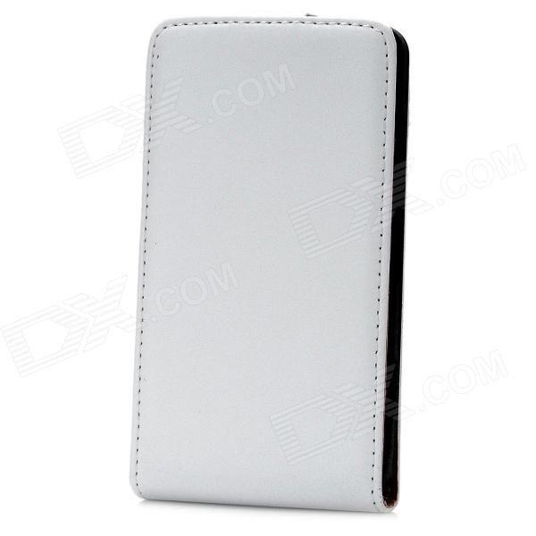 Protective Flip-Open PU Leather Case for Nokia Lumia 820 - White