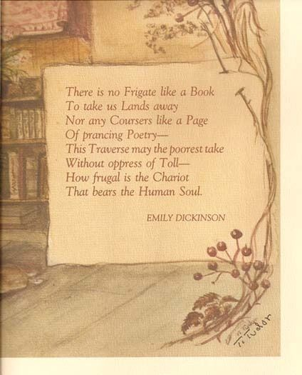 Illustrated poetry by Emily Dickenson | ... in more poetic words (: ~Emily Dickinson, illustrated by Tasha Tudor