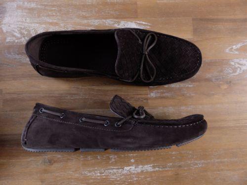 BOTTEGA VENETA brown woven suede loafers shoes -Size 12.5 US / 11.5 UK / 45.5 EU