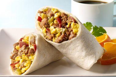 Loaded Turkey Breakfast Burritos | JennieO | https://www.jennieo.com/recipes/822-Loaded-Turkey-Breakfast-Burritos