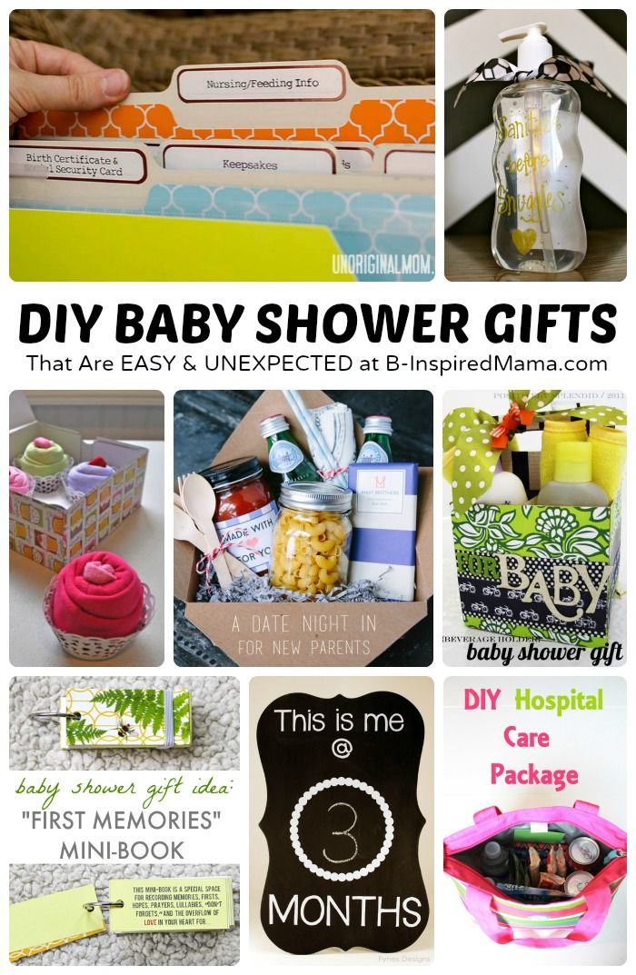Easy and Unexpected DIY Baby Shower Gifts#Bump Try our new social app for #Pregnant and new moms! http://bit.ly/preggie_pinterest http://apple.co/1DhFLxJ