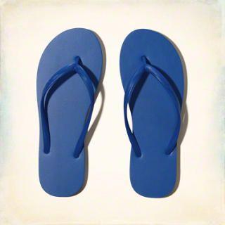 Girls Classic Rubber Flip Flops