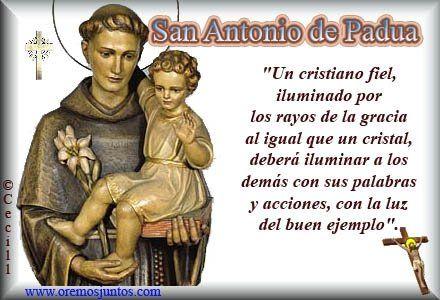 Frases de SAN ANTONIO DE PADUA  Santo Patrono de San Antonio de las Vegas   Feast Day June 13