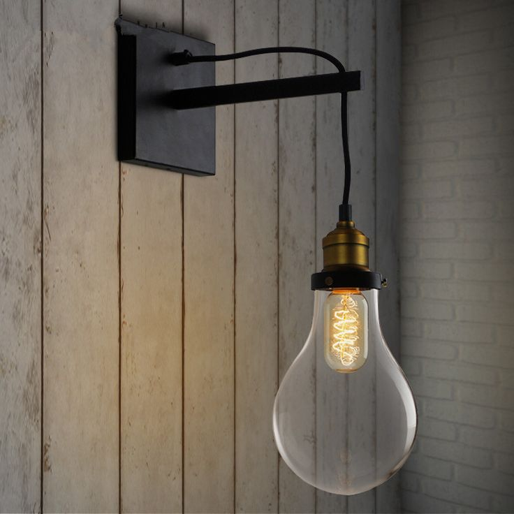 125 best retro loft wall lamps images on pinterest sconces wall cheap lamp cover buy quality lamp rope directly from china lamp trailer suppliers new arrival vintage bulb shape wall lamps bedroom bedside wall lights aloadofball