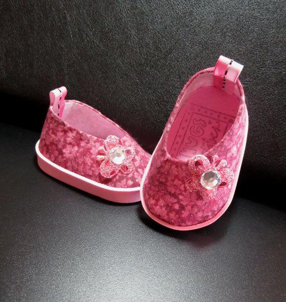 American Girl Doll Clothes- Shoes, 18 inch Dolls My Pink Butterfly Shoes For American Girl Dolls and Similar Dolls