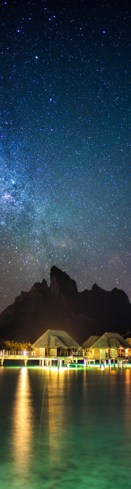 Milky Way over Bora Bora - photo from #treyratcliff Trey Ratcliff at http://www.StuckInCustoms.com