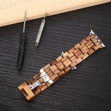 Oringal Merk 100% Natuurlijke Houten Band voor Apple Horloge met Adapter 42mm Aangepast Lengte Luxe Houten Horloge Strap(China (Mainland))
