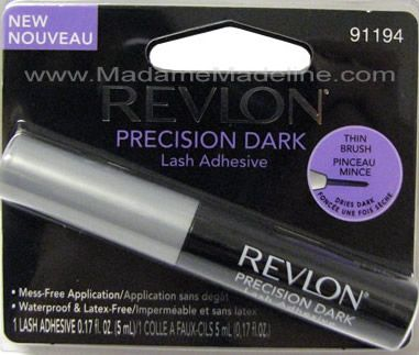 Revlon Precision Dark Lash Adhesive- ok, this lash glue is the best thing since sliced bread. Through away your duo and add this! Fast drying, light weight, non sticky( unlike duo), strong hold glue! For half the price and double the value ! Also available  in white $4.99
