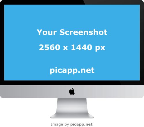 Place your new iOS app screenshot in this cool iMac with just one click. How? Go to Picapp.net, choose what device frame you like, upload your cool app screenshot and you're done! And the best part of Picapp.net:  FREE DOWNLOAD! Try it now. #iMac #nobackground #mockup #apple #picapp