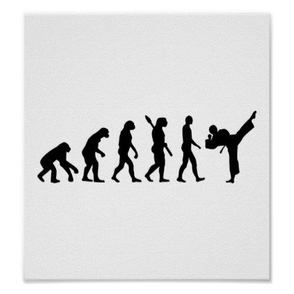 Evolution Karate kickboxing Print:  #Evolution #Karate #kickboxing #martialarts #sports #kungfu #thai #boxing #taekwondo #fight