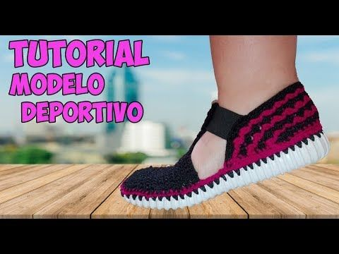 ZAPATOS TEJIDOS EN CROCHET - MODELO DEPORTIVO - YouTube