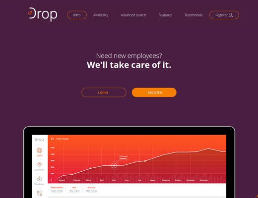 Template 026: Drop   Great new My Site Shop templates!  #webdesign #website #inspiration #blue