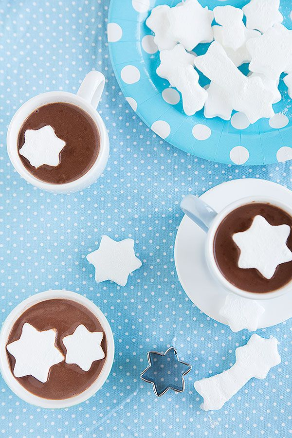 star marshmallows and hot chocolate