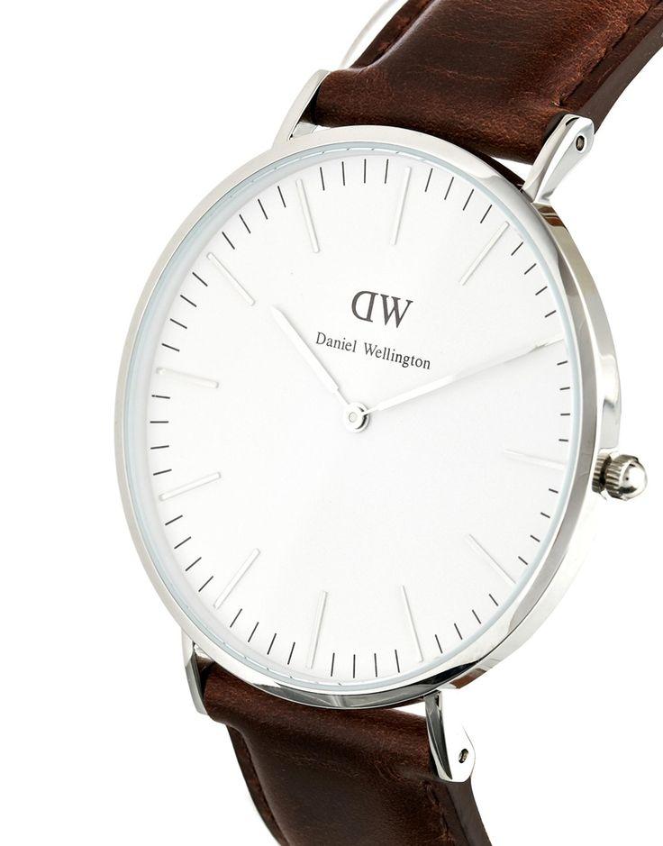 Image 3 ofDaniel Wellington Bristol Silver Brown Leather Strap Watch