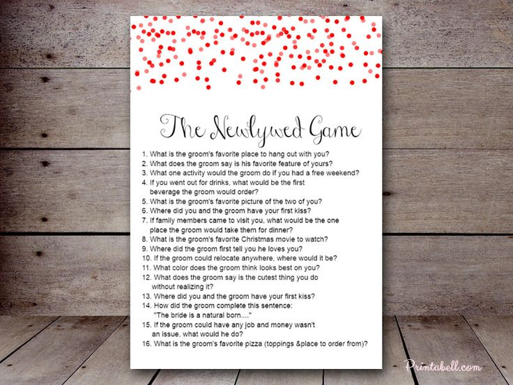 the newlywed game BS215b 5″x7″ Confetti Dots – Printabell • Create