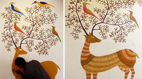 Jangarh Kalam Paintings/ Gond Paintings. From song to Paintings.