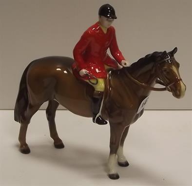 Lot 123 - (04 Nov 2013) - Beswick Rider and Horse