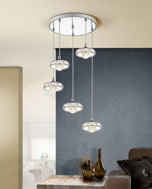 Lámpara Circular con 5 Colgantes LED Colección SURIA