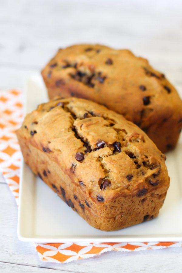 gluten free vegan chocolate chip pumpkin banana bread