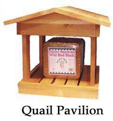 The Quail Pavilion with a 24lb Quail Block that can last several months. Asking for this one for Christmas!! The Wild Bird Store in Tucson, AZ