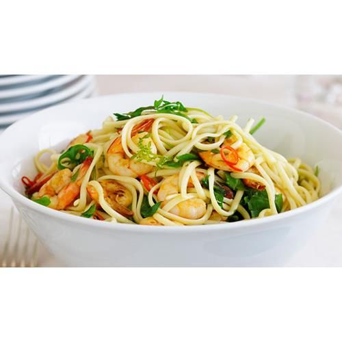 Chilli prawn linguine recipe - By Australian Women's Weekly, This recipe makes…