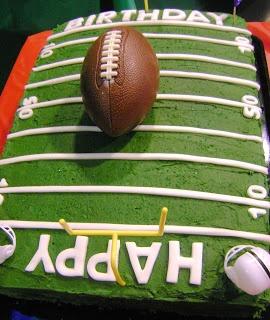 Bella Baker: Football Birthday Cakes for Matthew!!!!