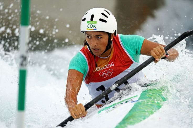 Ella Nicholas of Cook Islands competes during the Women's Kayak Slalom (K1) heats on Day 3 of the Rio 2016 Olympic Games at the Whitewater Stadium on August 8, 2016 in Rio de Janeiro, Brazil.  (1350×900)