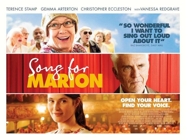 Song for Marion (2012) | Director Paul Andrew Williams Stamp gives a fine screen performance as Arthur, a happily married but otherwise taciturn, even grumpy man whose dislike of his wife's having joined a pop choir endures even when she's diagnosed as terminally ill. If the film offers a touching but rather upbeat look at ageing, loss and grief, it boasts moments of great emotional authenticity and insight, most of them firmly grounded in Stamp's expert, unsentimental playing.