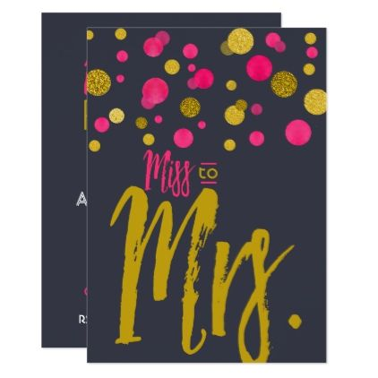 Bachelorette Night Party pink and gold confetti Card - bridal shower gifts ideas wedding bride
