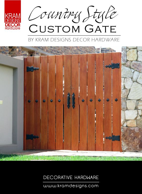 Turn your side gates into stunning entrances with Kram Designs Decor Hardware.