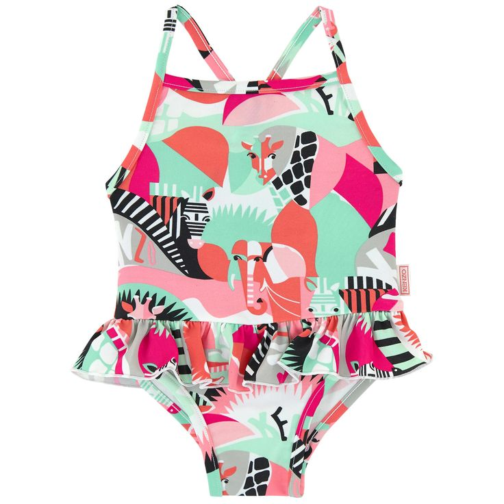 Kenzo Kids / Swimsuits / One-piece swimsuit with flounces