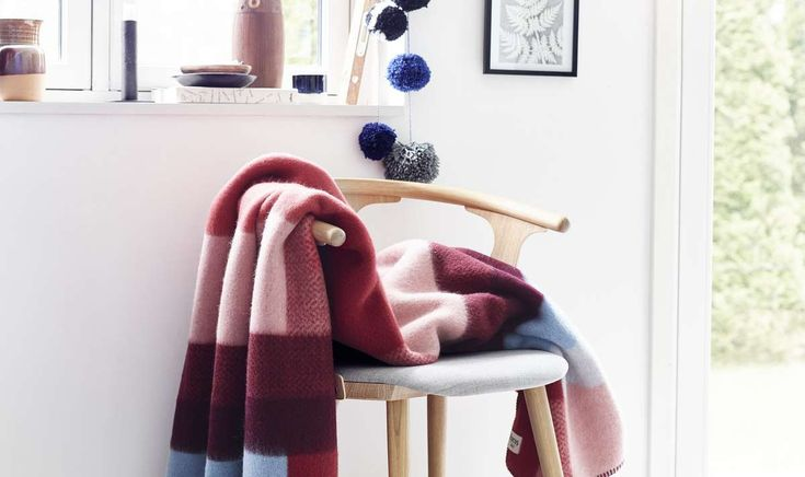 Mikkel blankets and pillows combines inspiration from the Bauhaus movement and Norwegian traditional weaving on one side with a modern and exploratory use of color on the other. You can buy it here: https://mallofnorway.com/gifts-home-decor/textile/blankets/blanket-mikkel?no_size=1