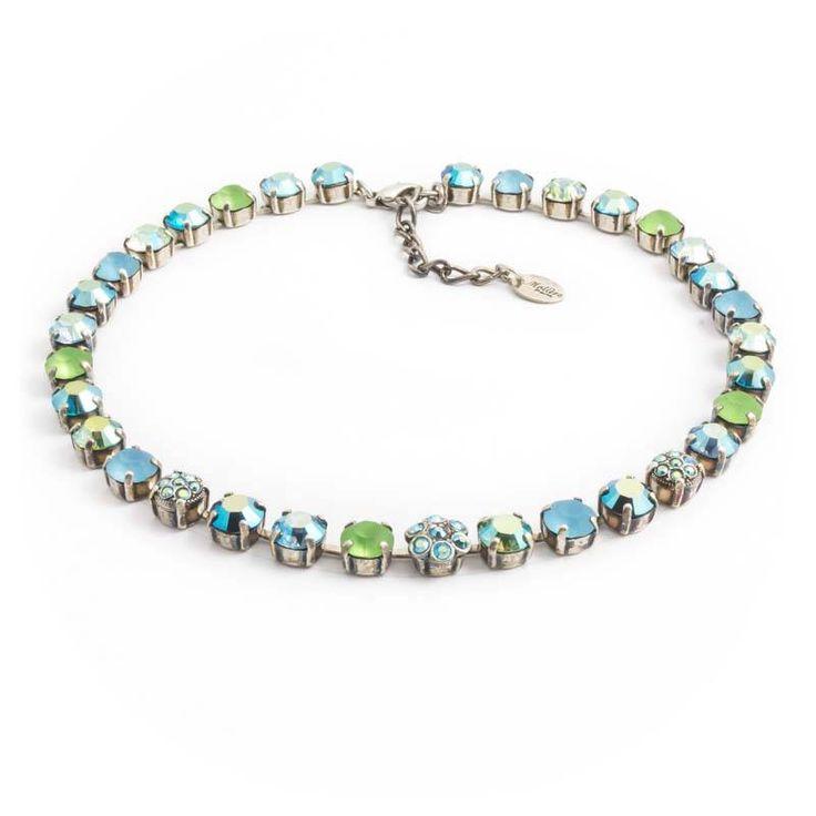 Koop deze blauw groene ketting van Moliere Paris met Swarovski Elements kristallen bij de nummer 1 in geweldige sieraden in Nederland.