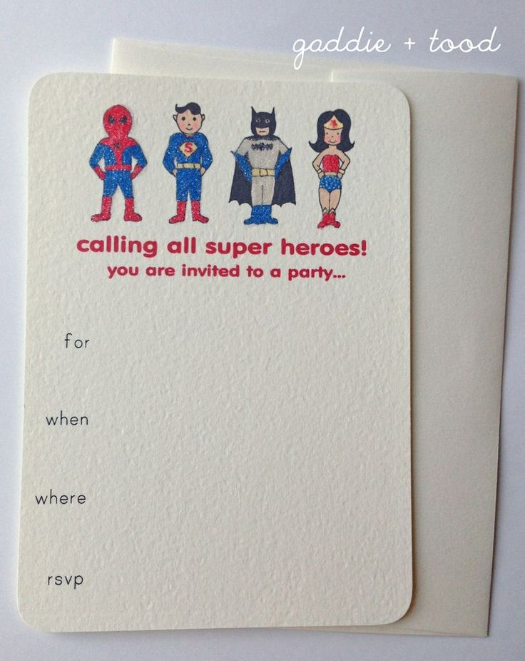 printable super hero supplies for toddlers