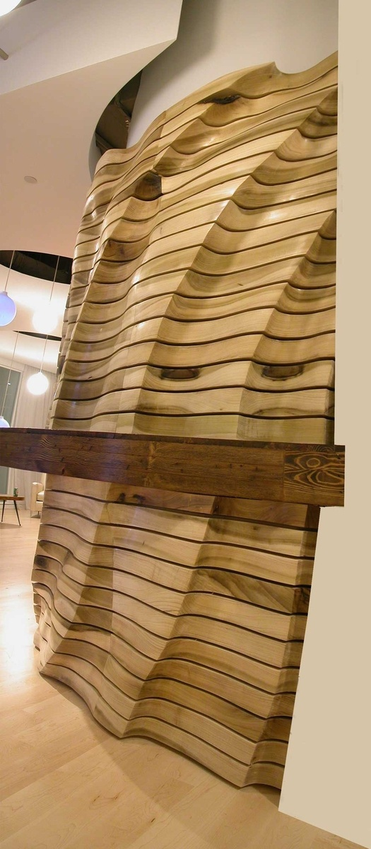 Custom Made Wave Wall by Naturalism Furniture | CustomMade.com