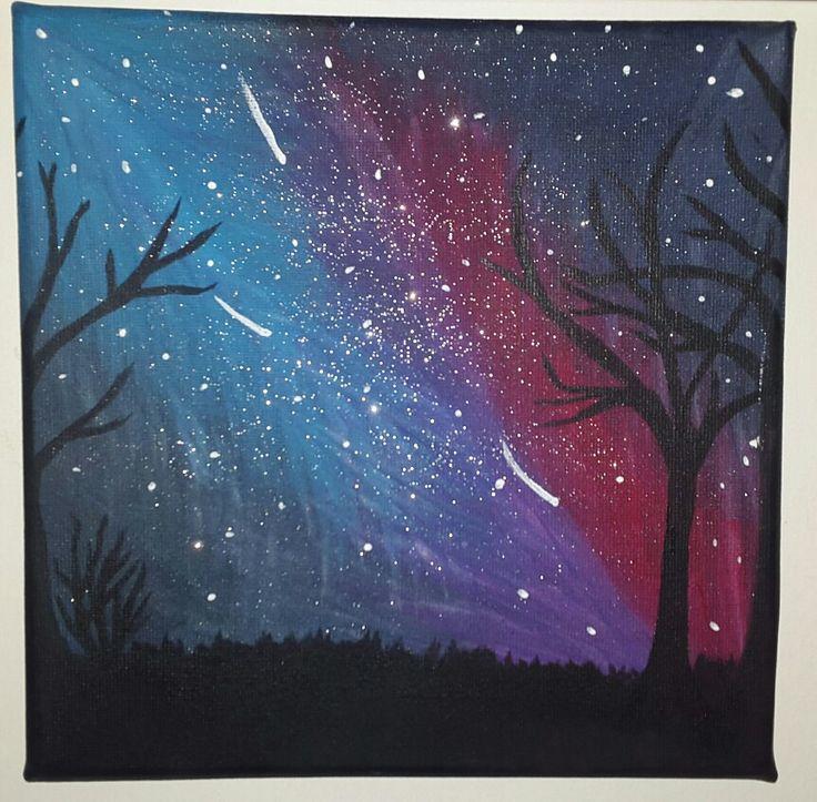 Star sky, acrilic painting