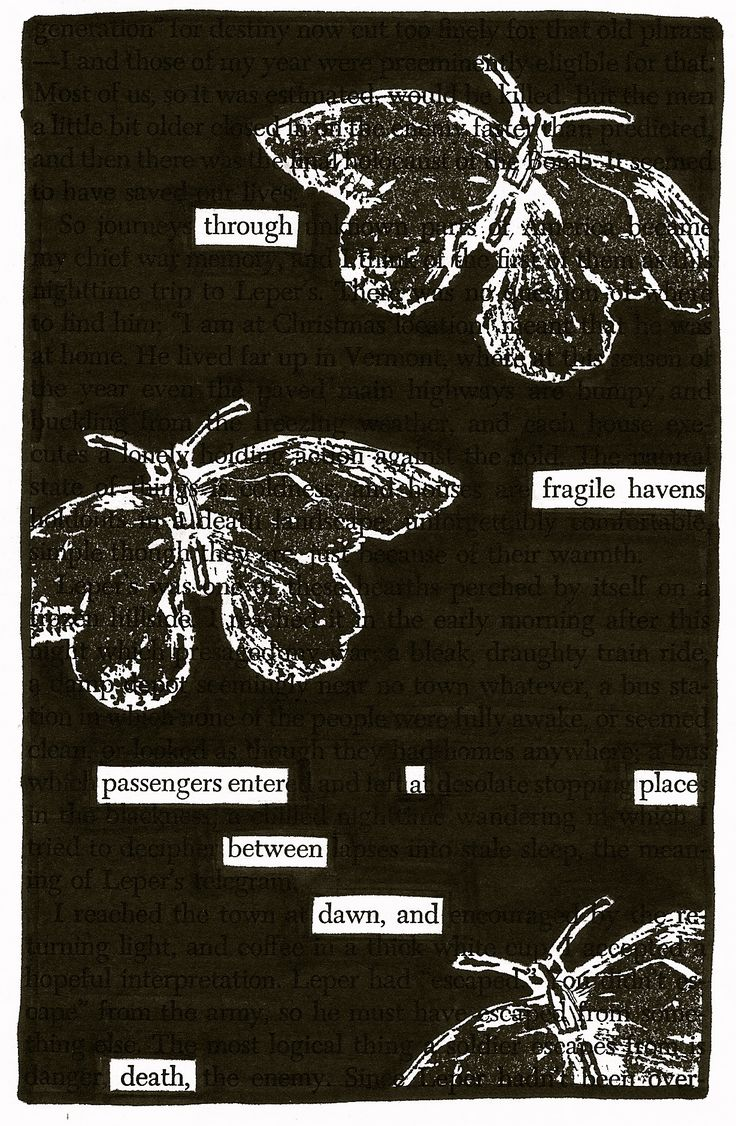 Fragile | Black Out Poetry | C.B. Wentworth