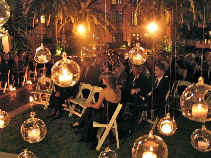 night wedding with candles- I might want these randomly placed throughout the garden.  I don't want that space being unused.