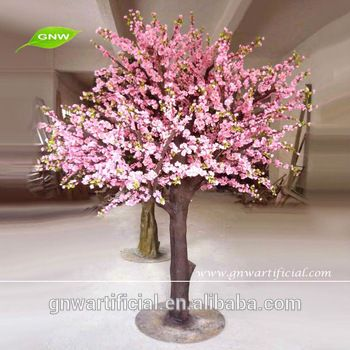 decorative indoor pink flower artificial cherry tree sale for wedding decoration BLS030 GNW