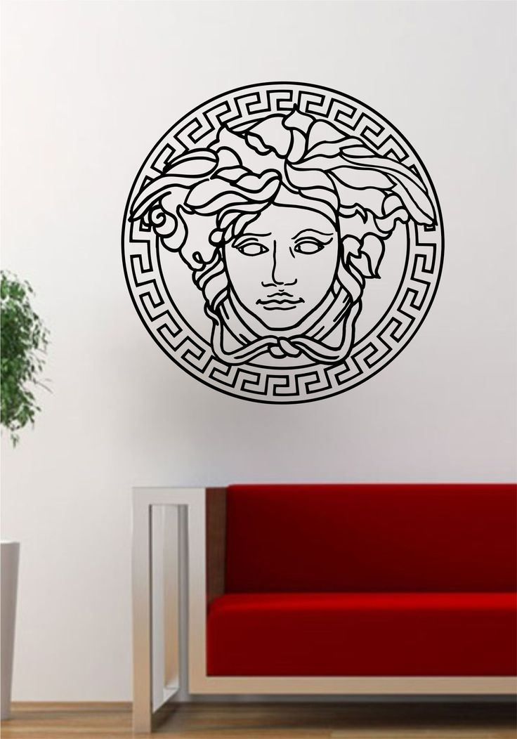 Versace Medusa Logo The latest in home decorating. Beautiful wall vinyl decals, that are simple to apply, are a great accent piece for any room, come in an array of colors, and are a cheap alternative