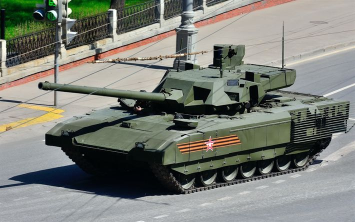 Download wallpapers New Russian tank, Armata, T-14, Russia, battle tank, modern armored vehicles