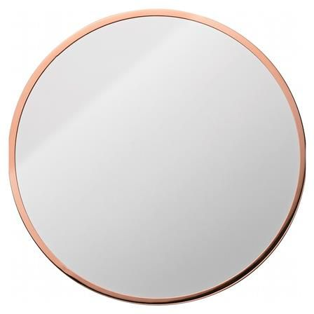 Jennington Round Copper Frame Mirror Interiors