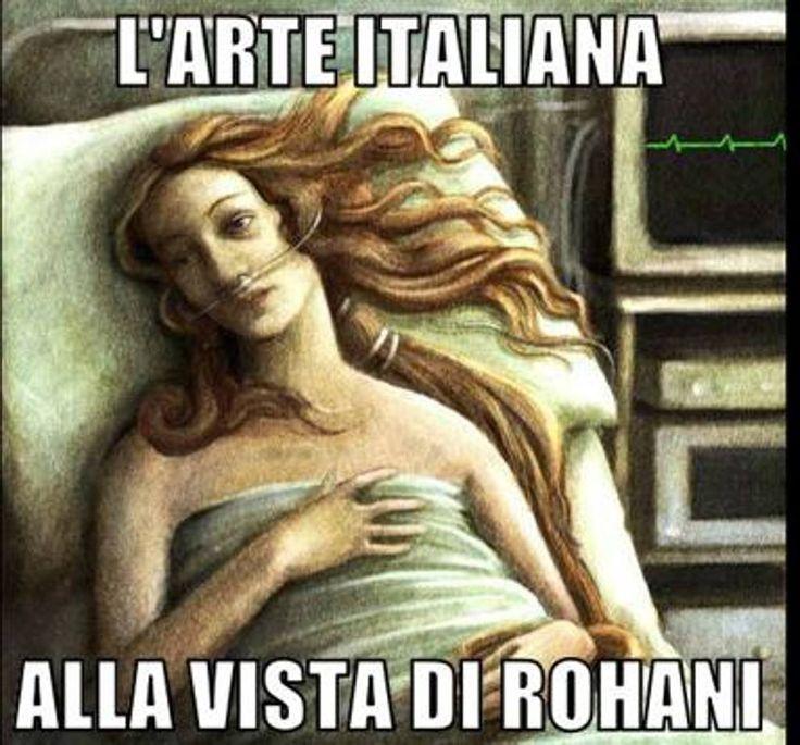 Tanta l'ironia sui social che si sono scatenati con fotomontaggi e commenti sulla notizia delle statue dei musei Capitolini coperte e chiuse in apposite scatole per la visita del presidente iraniano Hassan Rouhani a Roma (foto da Facebook)