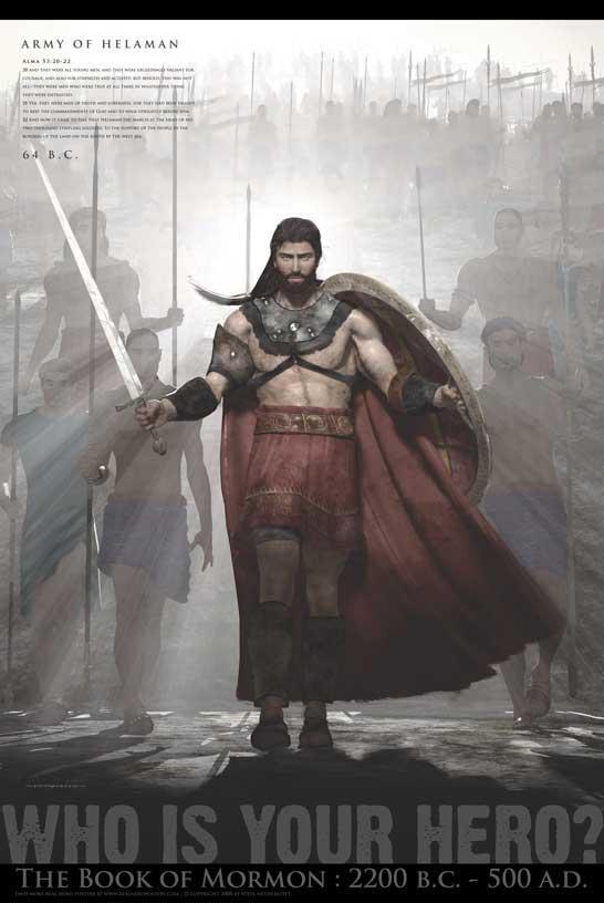 LDS Book Of Mormon Hero Poster Matte Finish Print